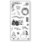 Fiskars - Simple Stick - Repositionable Rubber Stamps - Vintage Christmas