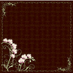 Fiskars - Heidi Grace Designs - Forever Love Collection -  12 x 12 Double Sided Paper - Orchid Border, CLEARANCE