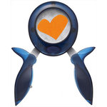 Fiskars - Squeeze Punch -  Medium - Skewed Heart - Funky Love