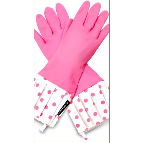 Flirty Aprons - Gloveables Collection - Designer Gloves - Pink Polka Dot