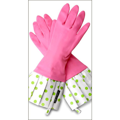 Flirty Aprons - Gloveables Collection - Designer Gloves - Pink and Green