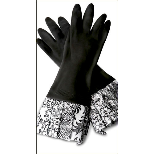 Flirty Aprons - Gloveables Collection - Designer Gloves - Sassy Black Lace, CLEARANCE