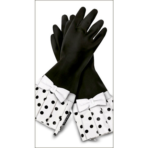 Flirty Aprons - Gloveables Collection - Designer Gloves - Sassy Polka Dot