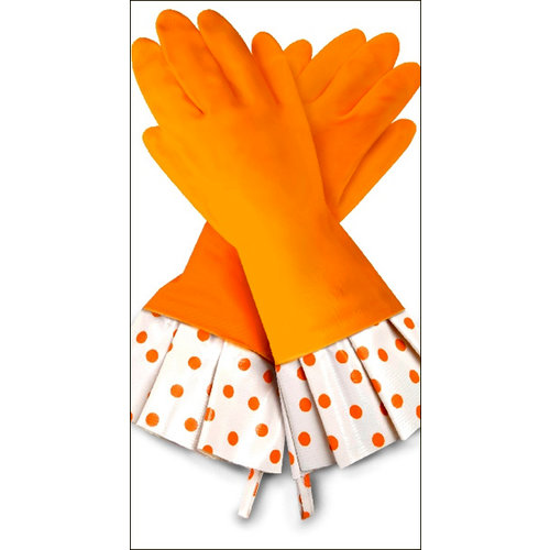 Flirty Aprons - Gloveables Collection - Designer Gloves - Citrus Polka Dot