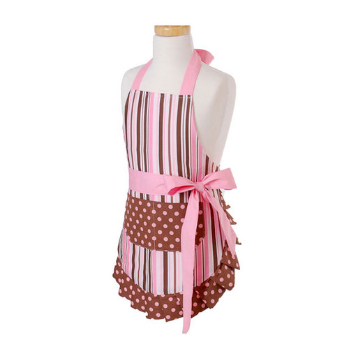 Flirty Aprons - Original Style Collection - Designer Aprons - Girl's - Pink Chocolate