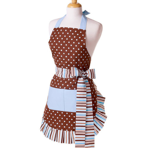 Scrapbook.com - Retro Designer Aprons - Women's - Blue Chocolate