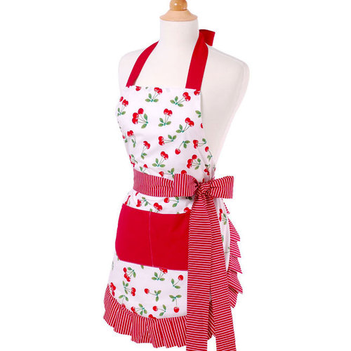 Flirty Aprons - Original Style Collection - Designer Aprons - Women's - Very Cherry
