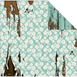 FabScraps - Shabby Chic Collection - 12 x 12 Double Sided Paper - Flowers