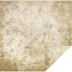 FabScraps - Timeless Travel Collection - 12 x 12 Double Sided Paper - Timeless Travel