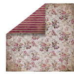 FabScraps - Heritage Collection - 12 x 12 Double Sided Paper - Small Floral