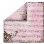 FabScraps - Heritage Collection - 12 x 12 Double Sided Paper - Script 4