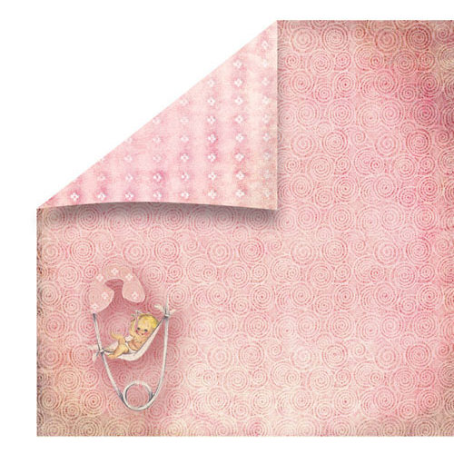 FabScraps - Vintage Baby Collection - 12 x 12 Double Sided Paper - Pin