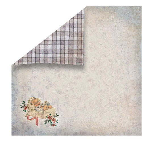 FabScraps - Vintage Baby Collection - 12 x 12 Double Sided Paper - Carriage