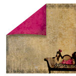 FabScraps - Burlesque Collection - 12 x 12 Double Sided Paper - Chaise