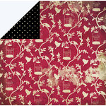 FabScraps - Classic Collection - 12 x 12 Double Sided Paper - Red Bird