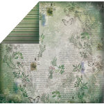 FabScraps - Organic Collection - 12 x 12 Double Sided Paper - Garden