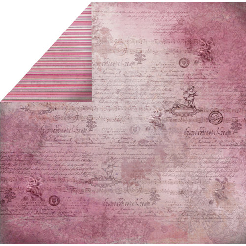 FabScraps - Organic Collection - 12 x 12 Double Sided Paper - Script
