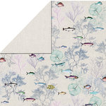 FabScraps - Beach Affair Collection - 12 x 12 Double Sided Paper - Fish 2