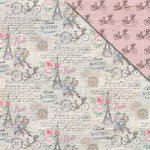 FabScraps - Love 2 Travel Collection - 12 x 12 Double Sided Paper - Paris