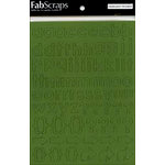 FabScraps - Chipboard Stickers - Alphabet - Green