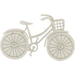FabScraps - Shabby Chic Collection - Die Cut Embellishments - Bicycle with Basket