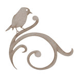 FabScraps - Heritage Collection - Die Cut Embellishments - Bird On Swirl