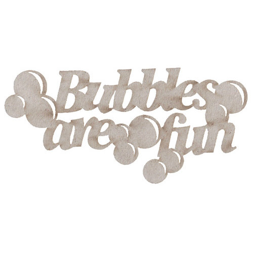 FabScraps - Vintage Baby Collection - Die Cut Words - Bubbles are Fun