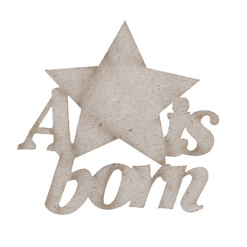 FabScraps - Vintage Baby Collection - Die Cut Words - A Star is Born