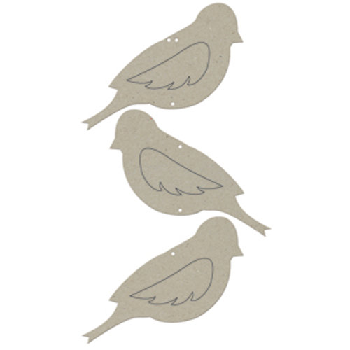 FabScraps - Classic Collection - Die Cut Embellishments - Bird Wall Hanging