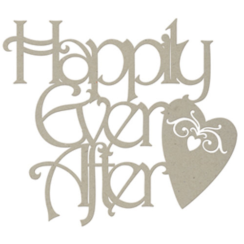 FabScraps - Classic Collection - Die Cut Words - Happily Ever After