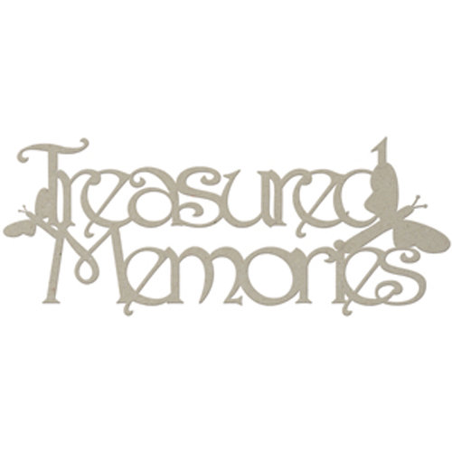 FabScraps - Classic Collection - Die Cut Words - Treasured Memories