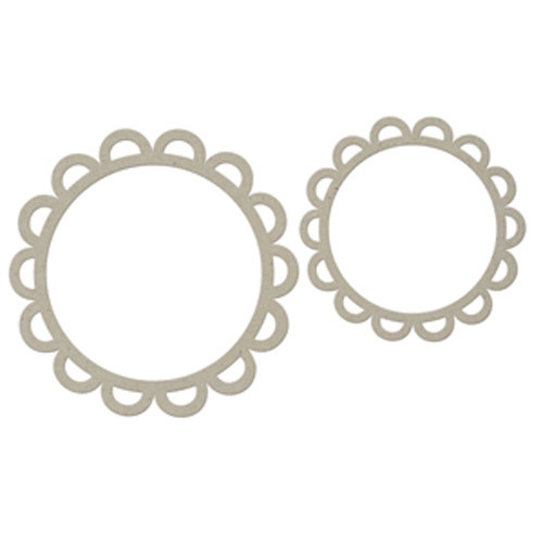 FabScraps - Organic Collection - Die Cut Embellishments - Flower Frames