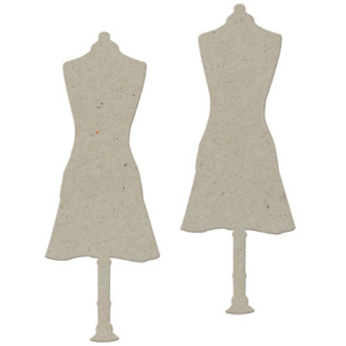 FabScraps - Organic Collection - Die Cut Embellishments - Apron Mannequin