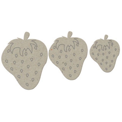 FabScraps - Organic Collection - Die Cut Embellishments - Strawberries