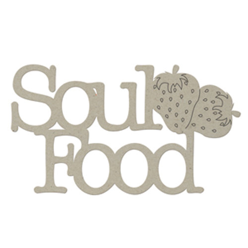 FabScraps - Organic Collection - Die Cut Words - Soul Food