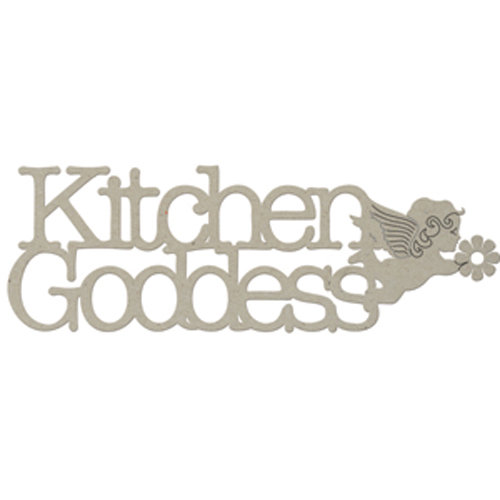 FabScraps - Organic Collection - Die Cut Words - Kitchen Goddess