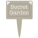 FabScraps - Organic Collection - Die Cut Words - Secret Garden