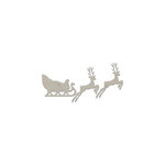 FabScraps - Christmas Collection - Die Cut Embellishments - Sleigh with 2 Reindeer
