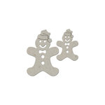 FabScraps - Christmas Collection - Die Cut Embellishments - Gingerbread Man