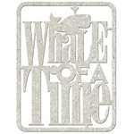FabScraps - Beach Affair Collection - Die Cut Words - Whale of a Time