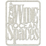 FabScraps - Beach Affair Collection - Die Cut Words - Wide Open Spaces