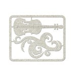 FabScraps - Floral Delight Collection - Die Cut Embellishments - Guitar and Filigree