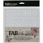 FabScraps - 8 x 8 Plastic Stencil - Swirls