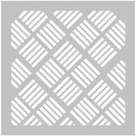 FabScraps - 8 x 8 Plastic Stencil - Square Stripes