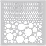FabScraps - 8 x 8 Plastic Stencil - Dots