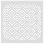 FabScraps - 8 x 8 Plastic Stencil - Diamond