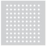 FabScraps - 8 x 8 Plastic Stencil - Stars