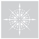 FabScraps - 8 x 8 Plastic Stencil - Compass