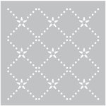 FabScraps - 8 x 8 Plastic Stencil - Diamond Dot