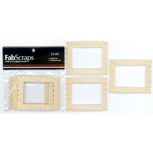 FabScraps - Metal Embellishments - Mini Frames - Sand Rectangles